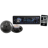 Pyle PLMRKT12BK Marine Flash Audio Player - iPod/iPhone Compatible - Single DIN