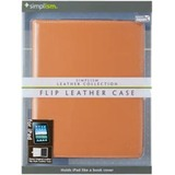 Simplism TR-LCFLIPAD-CM/EN Tablet PC Case - Flip - Leather - Camel