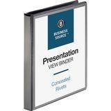 Business Source Round Ring Presentation Binder 28771
