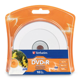 Verbatim 96936 DVD Recordable Media - DVD-R - 16x - 4.70 GB - 10 Pack Blister