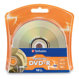 Verbatim 96939 DVD Recordable Media - DVD-R - 16x - 4.70 GB - 10 Pack Blister Pack