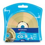Verbatim LightScribe 96934 CD Recordable Media - CD-R - 52x - 700 MB - 10 Pack Blister Pack