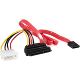 StarTech.com 18in Upward Right Angle SATA Cable w/ LP4 Adapter