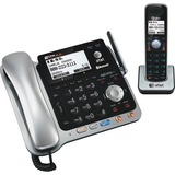 AT&T Bluetooth, DECT Cordless Phone - Black, Silver TL86109