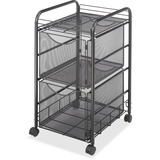 Safco Onyx Double Mesh Mobile File Cart 5212BL