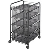 Safco Onyx Double Mesh Mobile File Cart 5214BL