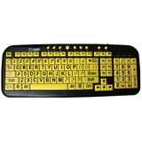 Ergoguys Ezsee Low Vision Keyboard Large Print Yellow Keys - CD1038