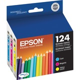 Epson DURABrite 124 Ink Cartridge - Cyan, Magenta, Yellow