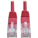 Tripp Lite N002-001-RD Category 5e Network Cable - 12 - Patch Cable - Red