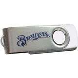 Centon DataStick Swivel MLB Milwaukee Brewers Edition Flash Drive - 4 GB