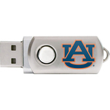 Centon DataStick Twist Collegiate Auburn University Flash Drive - 2 GB