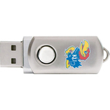 Centon DataStick Twist Collegiate University of Kansas Flash Drive - 2 GB