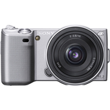 Sony alpha NEX-5 14.2 Megapixel Mirrorless Camera - Silver NEX5AS