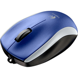 Logitech M125 Mouse - Optical Wired - Blue