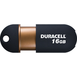 Duracell Capless DU-ZP-16G-CA-N3-R 16 GB USB 2.0 Flash Drive - Black, Copper DU-ZP-16G-CA-N3-R