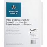 Business Source Punched Laser Index Divider 36687