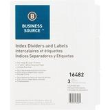 Business Source Punched Laser Index Divider 16482