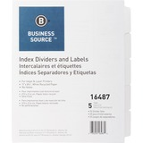 Business Source Unpunched Laser Tab Divider 16487