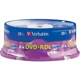 Verbatim 95310-2KIT DVD Recordable Media - DVD+R DL - 6x - 8.50 GB - 40 Pack Spindle
