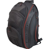 Mobile Edge MEEVO7 Notebook Case - Backpack - Ballistic Nylon - Black, Red