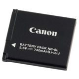 Canon NB-8L Camera Battery - 740 mAh - 4267B001AA