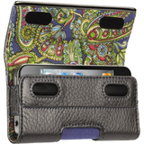 Griffin GB01709 Smartphone Case - Holster - Leather - Platinum