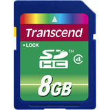 Transcend 8 GB Secure Digital High Capacity (SDHC) - 1 Card TS8GSDHC4