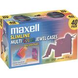 Maxell CD-366 Slimline Jewel Cases - 190076