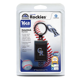 Centon Electronics DSK16GB-COL 16GB DataStick Keychain MLB Colorado Rockies USB 2.0 Flash Drive