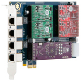 Digium 1AEX410PLF 4-Port Analog Voice Board 1AEX410PLF