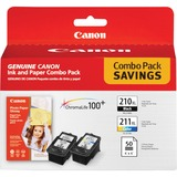 Canon PG210/CL211 Ink Cartridge - Color, Black