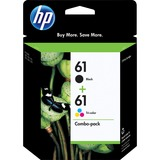HP 61 Ink Cartridge - Black, Cyan, Magenta, Yellow CR259FN#140