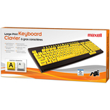 Maxell 191046 - CKLP1 Keyboard - Wired - Black, Yellow