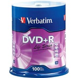 Verbatim Life 97175 DVD Recordable Media - DVD+R - 16x - 4.70 GB - 100 Pack Spindle