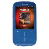 SanDisk Sansa Fuze SDMX20R 8 GB Blue Flash Portable Media Player