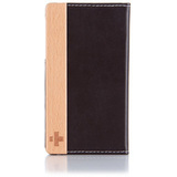 Simplism TR-FNIP4-CB/EN Smartphone Case - Flip - Leather - Chocolate Black