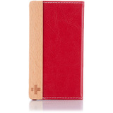 Simplism TR-FNIP4-DR/EN Smartphone Case - Flip - Leather - Deep Red