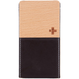 Simplism TR-VFIP4-CB/EN Smartphone Case - Flip - Leather, Fabric - Chocolate Black