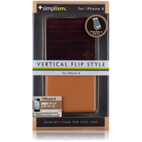 Simplism TR-VFIP4-CM/EN Smartphone Case - Flip - Leather, Fabric - Camel