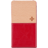 Simplism TR-VFIP4-DR/EN Smartphone Case - Flip - Leather, Fabric - Deep Red