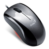 Genius 220 Mouse - Optical Wired - Metallic Gray