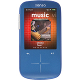 SanDisk Sansa Fuze+ SDMX20 4 GB Blue Flash Portable Media Player SDMX20R-004GB-C57