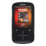 SanDisk Sansa Fuze+ SDMX20 4 GB Black Flash Portable Media Player SDMX20R-004GK-C57