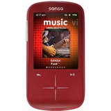 SanDisk Sansa Fuze+ SDMX20 4 GB Red Flash Portable Media Player SDMX20R-004GR-C57