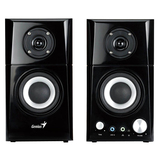 Genius SP-HF500A 2.0 Speaker System - Black, Wood