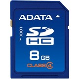 Adata ASDH8GCL4-R 8 GB Secure Digital High Capacity (SDHC) - 1 Card ASDH8GCL4-R
