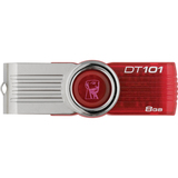 DT101G2/8GBZ - Kingston DataTraveler 101 G2 DT101G2/8GBZ 8 GB USB 2.0 Flash Drive - Red