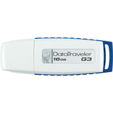 Kingston DataTraveler G3 DTIG3/16GBZ 16 GB USB 2.0 Flash Drive - White, Blue DTIG3/16GBZ
