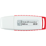 Kingston DataTraveler G3 DTIG3/32GBZ 32 GB USB 2.0 Flash Drive - White, Red DTIG3/32GBZ