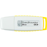 Kingston DataTraveler G3 DTIG3/8GBZ 8 GB USB 2.0 Flash Drive - White, Yellow DTIG3/8GBZ